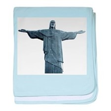 Rio Statue of Christ baby blanket