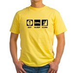 eat seep climb Yellow T-Shirt