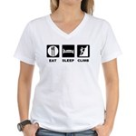 eat seep climb Women's V-Neck T-Shirt