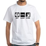 eat seep climb White T-Shirt