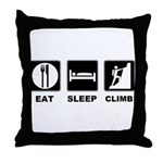 eat seep climb Throw Pillow