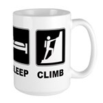 eat seep climb Large Mug