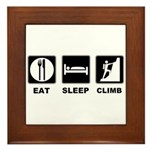 eat seep climb Framed Tile