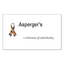 Autism/Asperger's Awareness Rectangle Decal