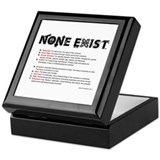 None Exist(TM) keepsake box with explanation.
