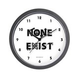 None Exist Wall Clock (stacked logo)