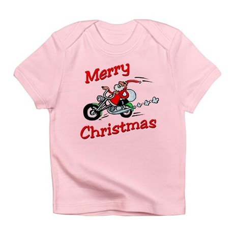 Motorcycle Santa Infant T-Shirt