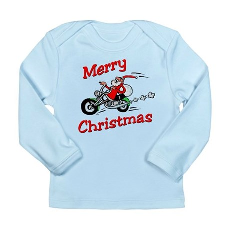 Motorcycle Santa Long Sleeve Infant T-Shirt