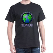World's Greatest Nephew Black T-Shirt