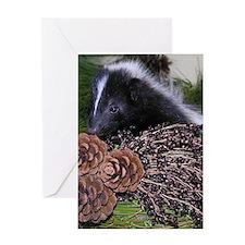 Skunk Christmas Card