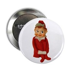 """Cute Vintage Elf Ornament 2.25"""" Button"""