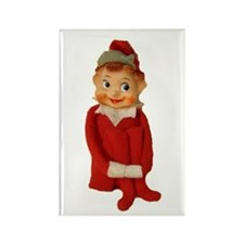 Cute Vintage Elf Ornament Rectangle Magnet