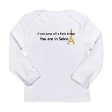 Funny French Long Sleeve Infant T-Shirt