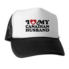 I Love My Canadian Husband Trucker Hat