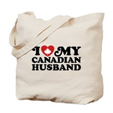 I Love My Canadian Husband Tote Bag