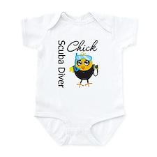 Scuba Diver Chick Infant Bodysuit