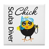Scuba Diver Chick Tile Coaster