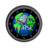 World's Greatest Nurse Wall Clock