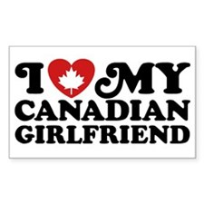 I Love My Canadian Girlfriend Decal