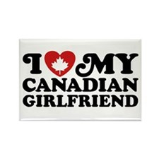 I Love My Canadian Girlfriend Rectangle Magnet