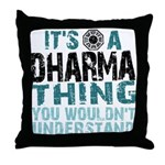 Dharma Thing Throw Pillow