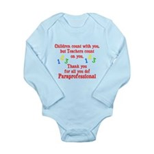 Paraprofessional Long Sleeve Infant Bodysuit