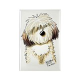 Havanese Caricature Rectangle Magnet