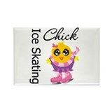 Ice Skating Chick Rectangle Magnet