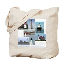 Massachusetts Lighthouses Tote Bag