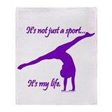 Gymnastics Throw Blankets