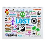 LOST 12 Month Wall Calendar