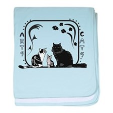 Arts and Cats baby blanket