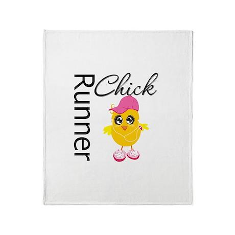 Runner Chick Throw Blanket
