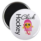 "Hockey Chick 2.25"" Magnet (100 pack)"
