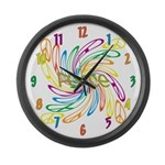 Peace Signs Large Wall Clock