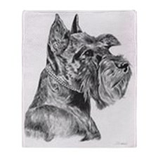 Miniature Schnauzer Pencil Dr Throw Blanket