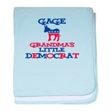 Gage - Grandma's Little Democ baby blanket