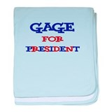 Gage for President baby blanket