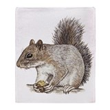 Gray Squirrel Throw Blanket