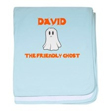 David the Friendly Ghost baby blanket