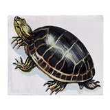 Western Painted Turtle Throw Blanket