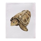 Loggerhead Turtle Throw Blanket