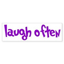 laugh often Car Sticker