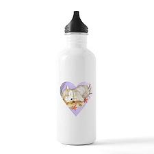 Little wolf sleeping Water Bottle