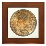 Indian Head Penny Obverse Framed Tile