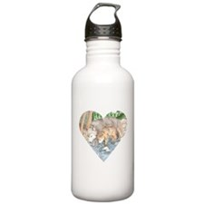 wolves at creek Water Bottle