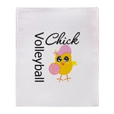 Volleyball Chick Throw Blanket