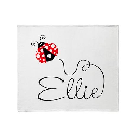 Ladybug Ellie Throw Blanket