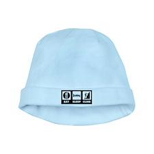 eat seep climb baby hat
