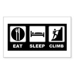 eat seep climb Sticker (Rectangle)